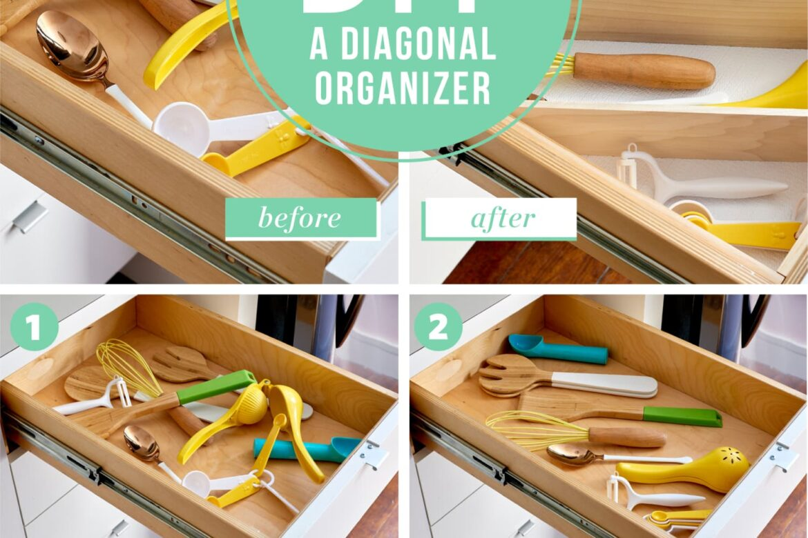How To Build a Diagonal Drawer Organizer