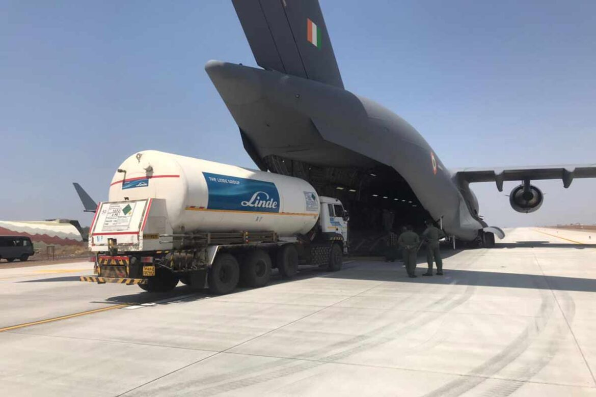 IAF joins fight against Covid-19; Airlifts Oxygen tankers from overseas and carries medical supplies to Leh