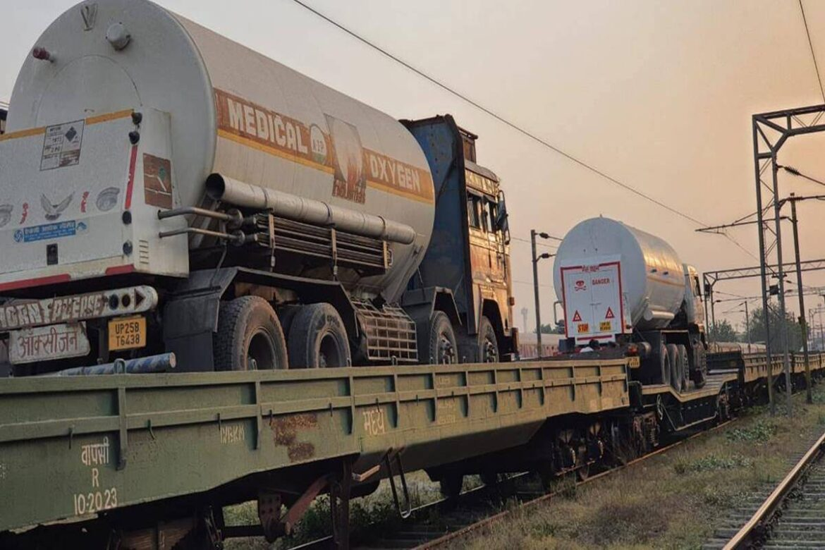 Indian Railways runs more oxygen express trains, LMO for Delhi from JSPL plant