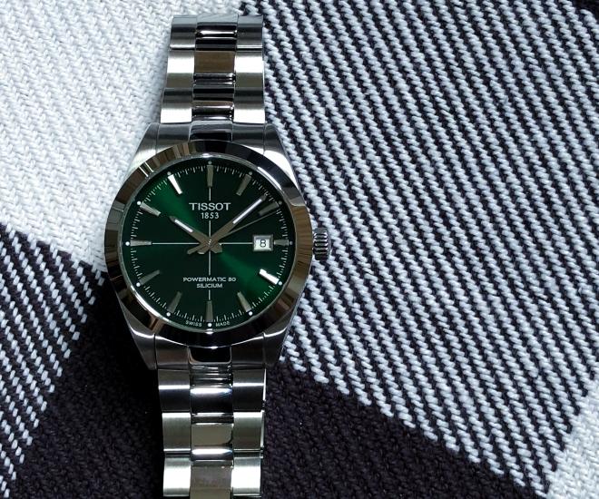 Tissot Gentleman Powermatic 80 Silicium: Green Burst