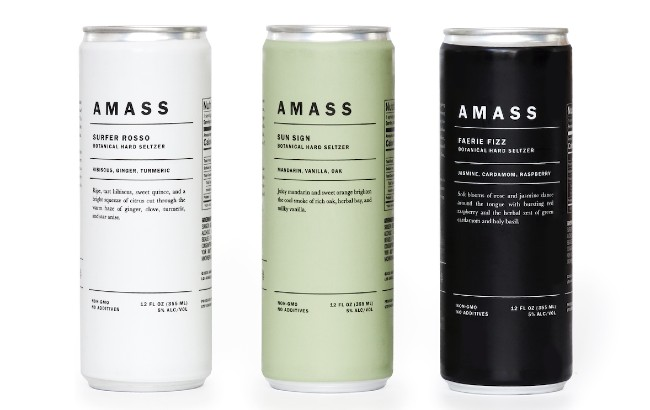 Amass launches trio of hard seltzers