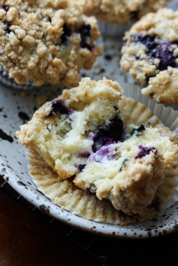 Blueberries and Cream Muffins