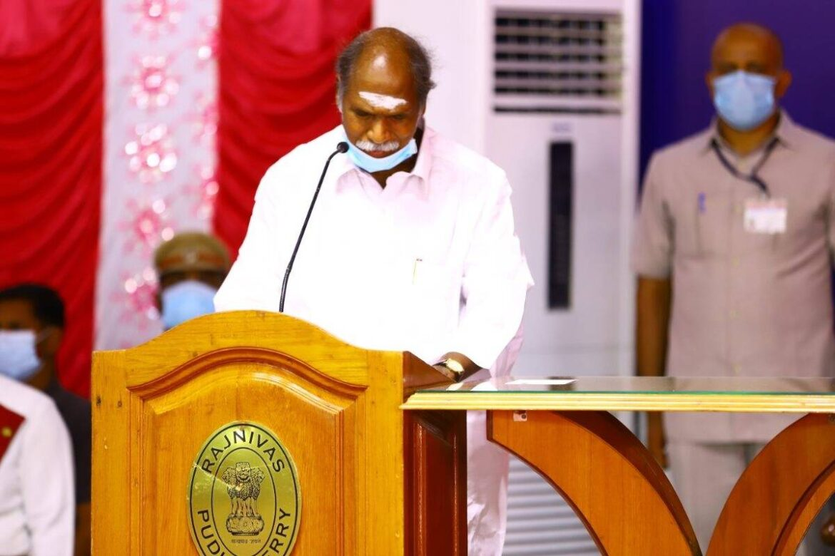 N Rangasamy sworn in as Puducherry Chief Minister for record fourth time; PM Modi congratulates him