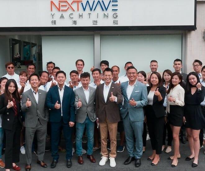 NextWave flying Sunseeker flag in Hong Kong