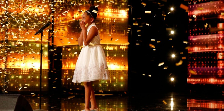 'AGT': 9-Year-Old Singer Receives Group Golden Buzzer