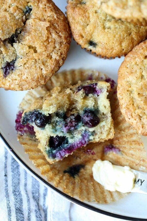 Easy Banana Blueberry Muffins
