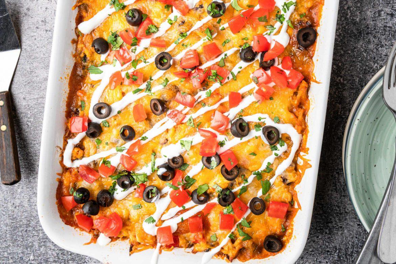 Meet Your New Favorite Weeknight Dinner: Cheesy Chicken Enchilada Casserole