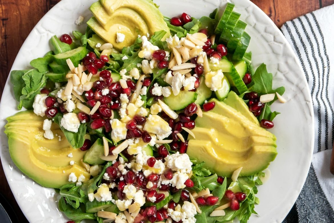 This Gorgeous Green Salad Is Bursting with Fresh Pomegranate