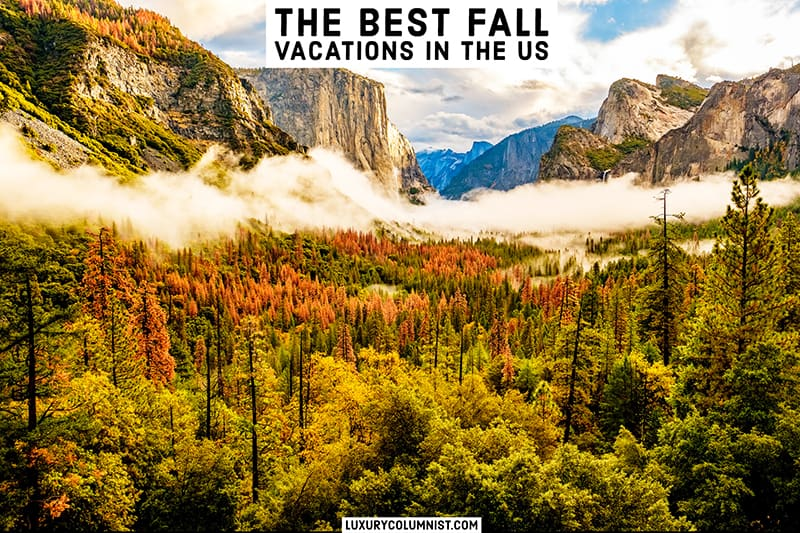 16 Best Fall Vacations in the US [2021]