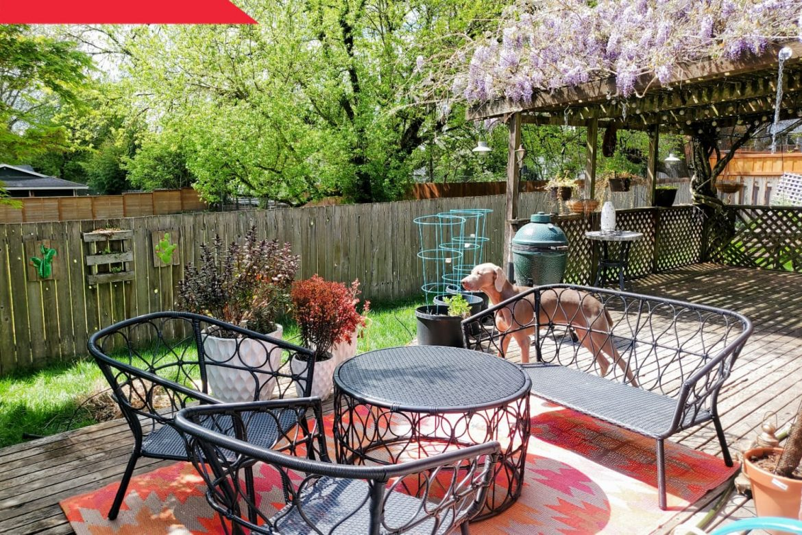 Before & After: A Patio with a Rotting Wood Deck Becomes a Stunning Tropical Oasis for $3,500
