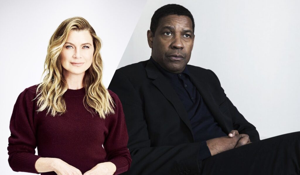 Ellen Pompeo recalls going at it with Denzel Washington when he directed an episode of Grey's Anatomy
