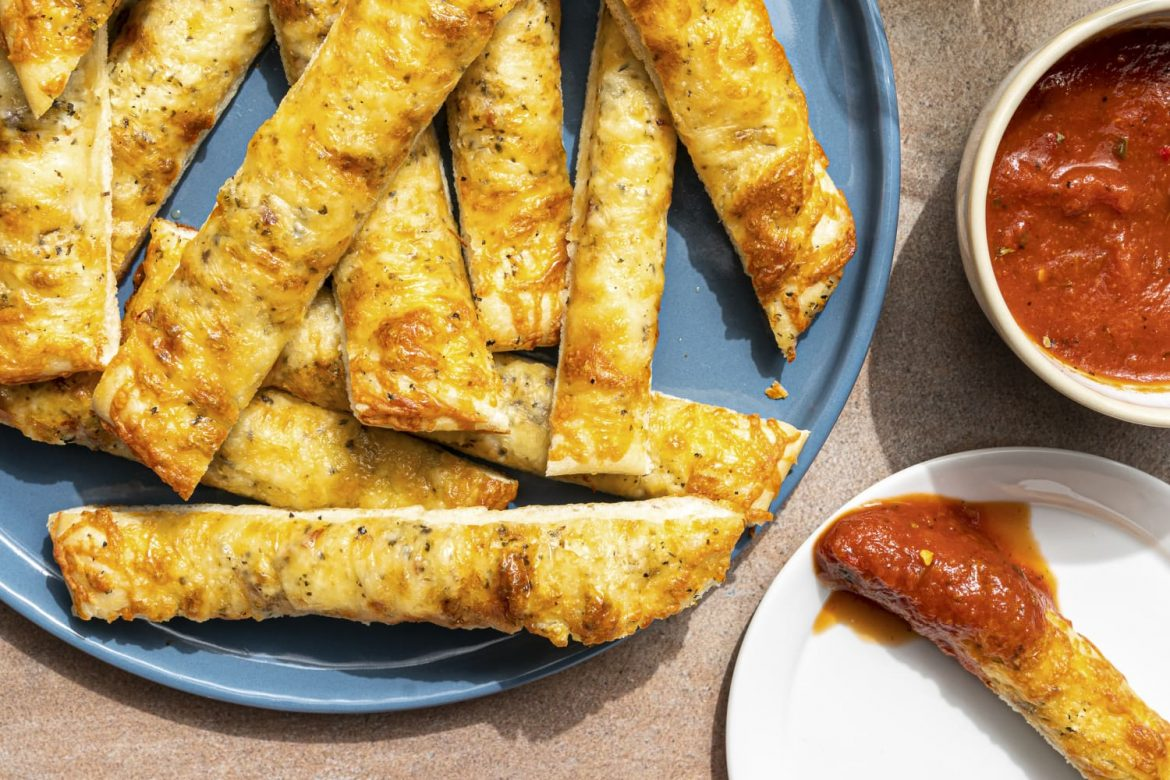 Garlicky Cheesy Breadsticks Are the Best Game-Day Snack