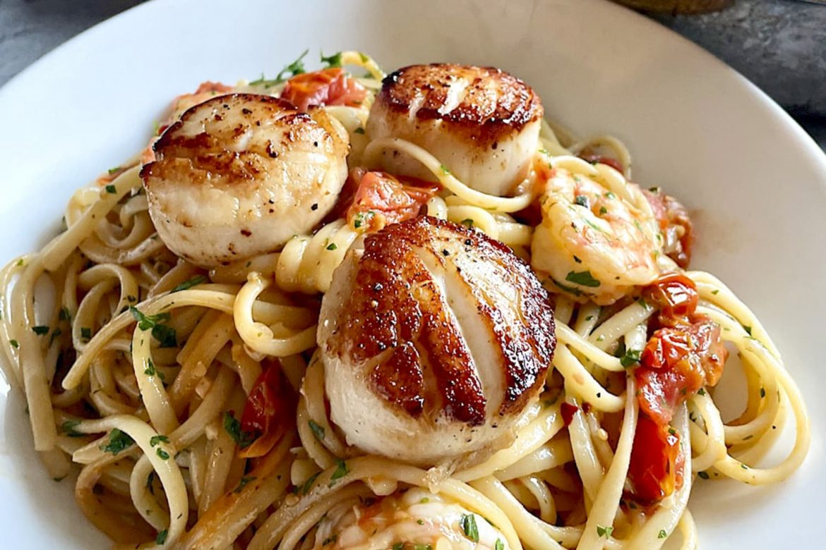 Garlicky Seafood Linguine Is the Ultimate Treat-Yourself Dinner