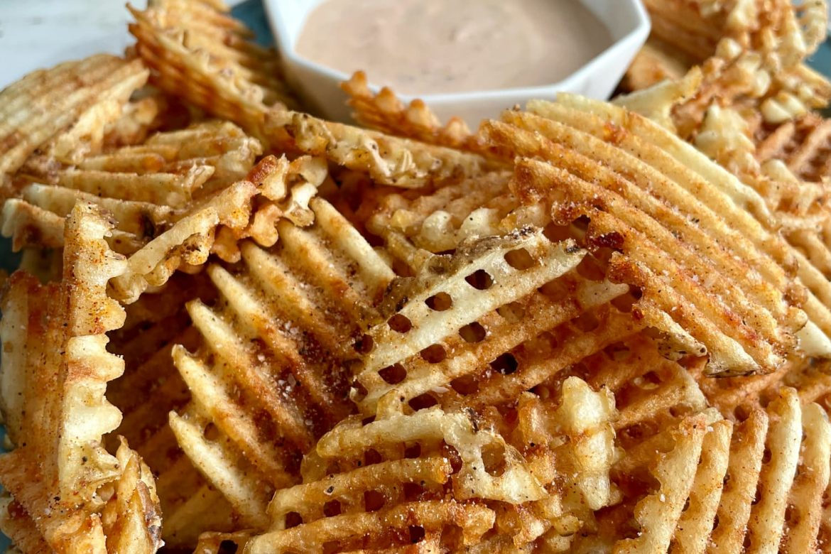 How to Make Extra-Crispy Waffle Fries at Home
