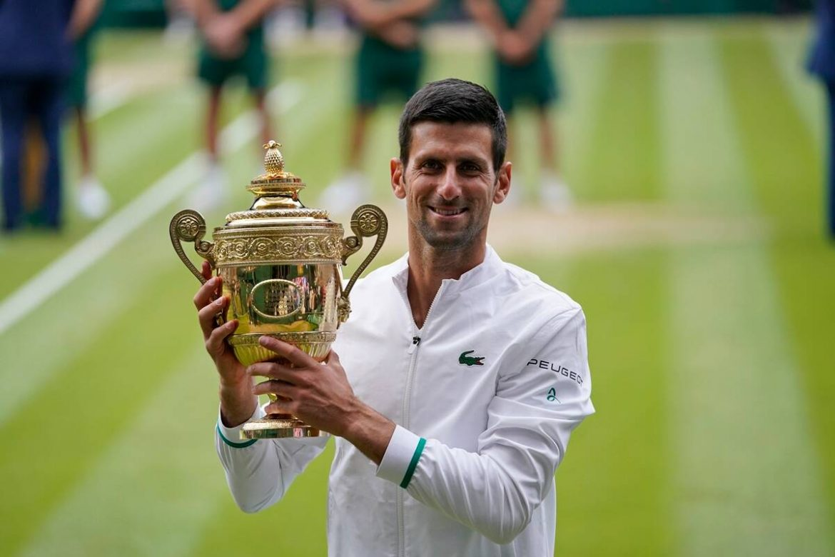 One win away: Novak Djokovic could become the first male player in 52 years to win all four Majors in a single calendar year