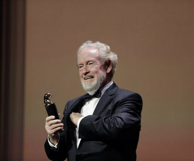 Ridley Scott Awarded 'Cartier Glory to the Filmmaker 2021' Prize